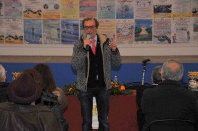 Martino in un momento della conferenza
